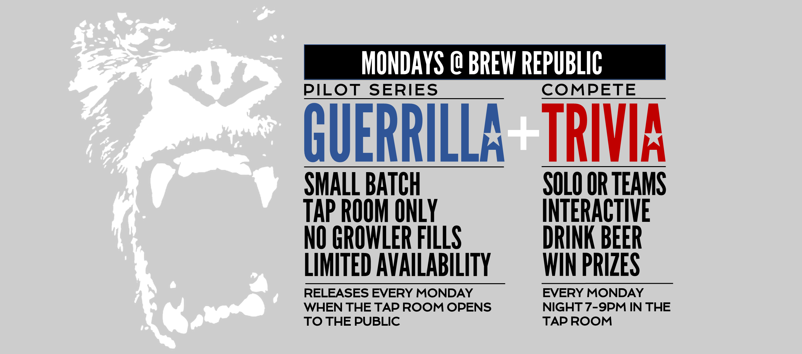 Guerilla Release & Trivia on Mondays!