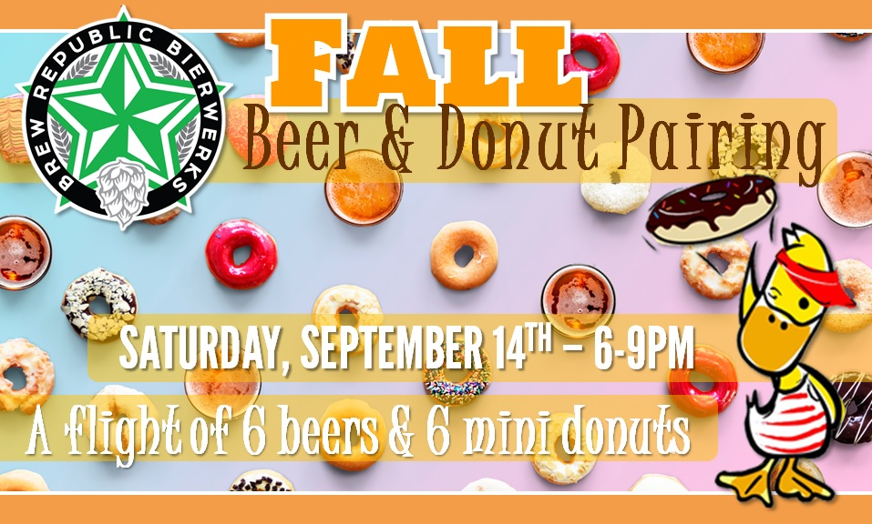 Fall Beer + Donuts Pairing