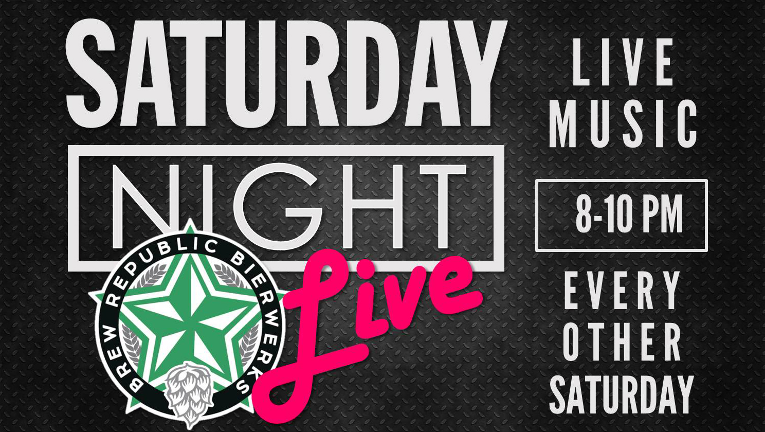 Live Music every other Saturday
