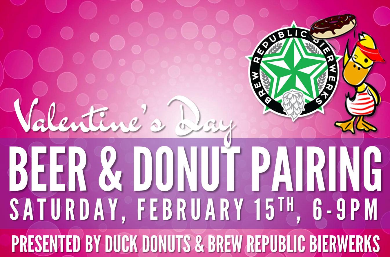 Valentine's Beer & Donut Pairing